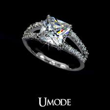 cubic zirconia white gold engagement rings gold plated princess cut cubic zirconia with micro czs cluster