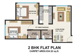 2bhk floor plans typical floor plan bhk flat home plans blueprints 50397