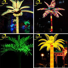 led 110v landscape lighting color changing leave plastic palm tree