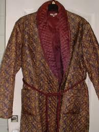 robe de chambre homme vintage homme veste robe de chambre peignoir paisley