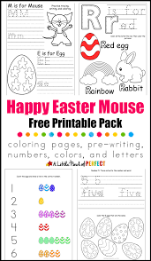 happy easter mouse free printable pack inspired by laura numeroff
