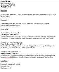 ticket agent resume example http resumesdesign com ticket