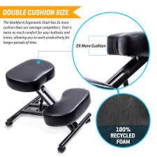 amazon com sleekform ergonomic kneeling chair adjustable stool