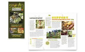 farmers market tri fold brochure template word u0026 publisher