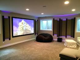 home theater decorating ideas pictures zebra motif brown leather lounge chair finished basement theater