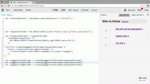 rxjs tutorial github render on the dom with rxjs from andrestaltz on eggheadio