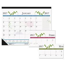 desk pad calendar 2017 recycled floral desk pad calendar 22 x 17 2017 desks and products