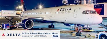 757 Seat Map Report Delta Air Lines 757 200 From Atlanta To Miami In First Class