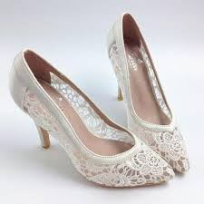 wedding shoes heels see through high heels pointed toe lace wedding bridal shoes