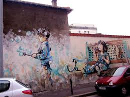 been blowing bubbles kid street murals for life pinterest kids play bubble in wall mural street