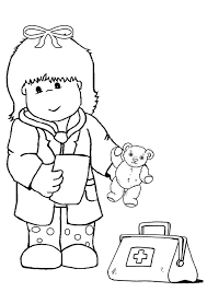 free kid doctor colouring kids activity sheets kid