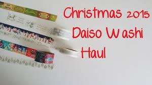 What Is Washi Tape Daiso Japanese Dollar Store Christmas 2015 Washi Tape Haul Youtube