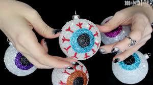 diy glitter halloween eyeballs youtube