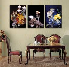 Painting For Dining Room Online Get Cheap 3 Pieces Canvas Painting Aliexpress Com