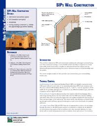 Building With Sips Etw Wall Sips Wall Construction Building Science Corporation