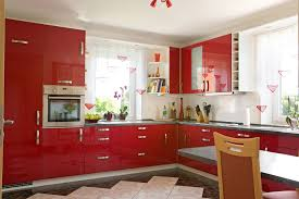 ideas cozy high gloss red kitchen cabinets kitchen awesome red