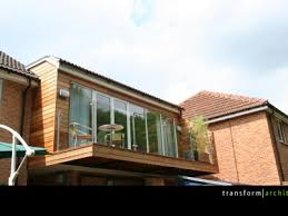 Garage Bedroom Extension Full Width Glazing  Transform Architects - Bedroom extension ideas