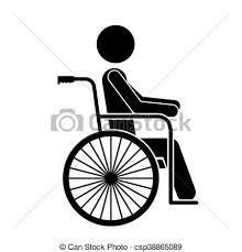rollstuhl design vektorbild rollstuhl freigestellt behinderten person