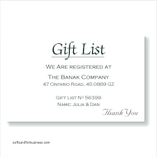 wedding gift registry list wording for registry on wedding invitation how to word gift
