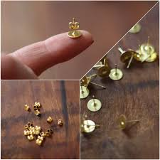 make stud earrings 17 apart diy how to make simple post earrings