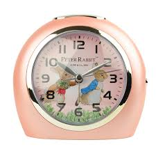 beatrix peter rabbit snooze nite light alarm clock running pink