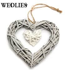 heart decorations home aliexpress com buy wicker heart wreath hanging heart rattan