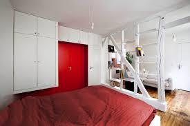 25 sqm red small apartment interior design home