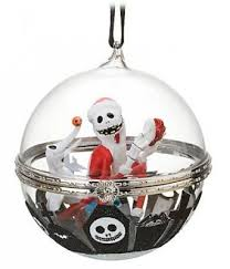 skellington and zero bauble ornament from our