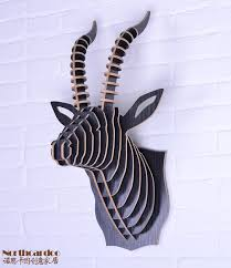 wooden animal wall interior wall decoration of creative diy assembly wooden goat
