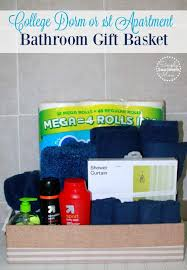 college gift baskets how to make a bathroom gift basket for college students