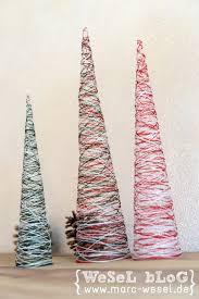 diy weihnachtsdeko garn weihnachtsbäume diy weihnachtsdeko handmade kultur