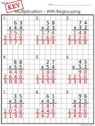 worksheets multi digit multiplication on graph paper