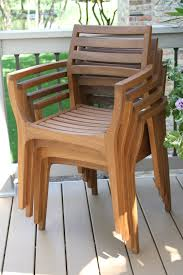 Stacking Dining Chairs by Danish Eucalyptus Wood Stacking Chair