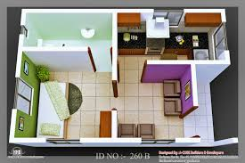 floor plan in 3d decor small house design with furniture arrangement and 3d 500 sq