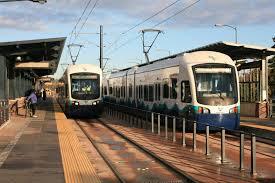 Commuter Rail by Purple Line Light Rail System Maryland