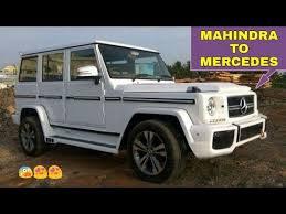 mercedes that looks like a jeep mahendra bolero modified to look like mercedes g wagon