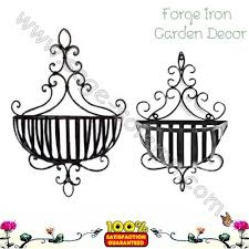 Wrought Iron Wall Planters by Wrought Iron Basket Planter