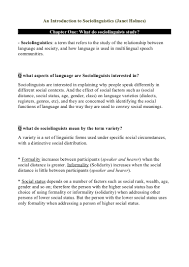 Parts Of Speech Worksheet Full Summary An Introduction To Sociolinguistics