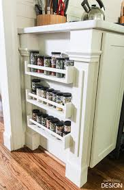 Spice Racks For Kitchen Cabinets Easy Built In Spice Rack Bekvam Ikea Hack Spice Shelf Ikea