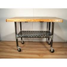 iron kitchen island industrial wood and iron wheeled cart kitchen island
