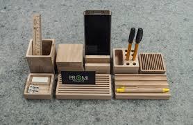 Ultimate Desk Organizer Wooden Card Holder Etsy Creative Desk Decoration