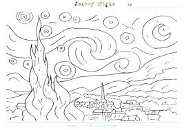 coloring page for van night coloring pages famous artist coloring pages print adult van