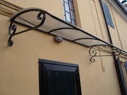 tettoie per porte esterne realizzazione tettoie in ferro e ferro battuto roma la fer pi
