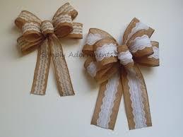 vintage burlap and lace bow rustic burlap lace wedding bow