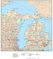 State Of Michigan Map by Chicago On Map Of Usa Chicago On Usa Map United States Of America