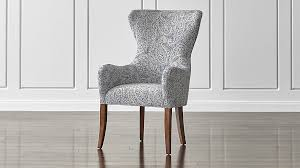 galloway paisley wingback dining chair crate and barrel