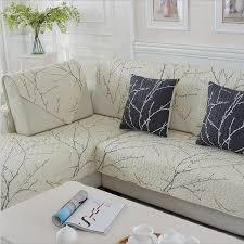 housse canapé blanc 1 pièce coton housse de canapé blanc usine imprimé doux moderne