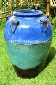 wholesale tall outdoor glazed jars tall temple jar green