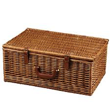 picnic basket set for 4 at ascot dorset style willow picnic basket with service