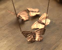 two wing butterfly necklace copper electroplated